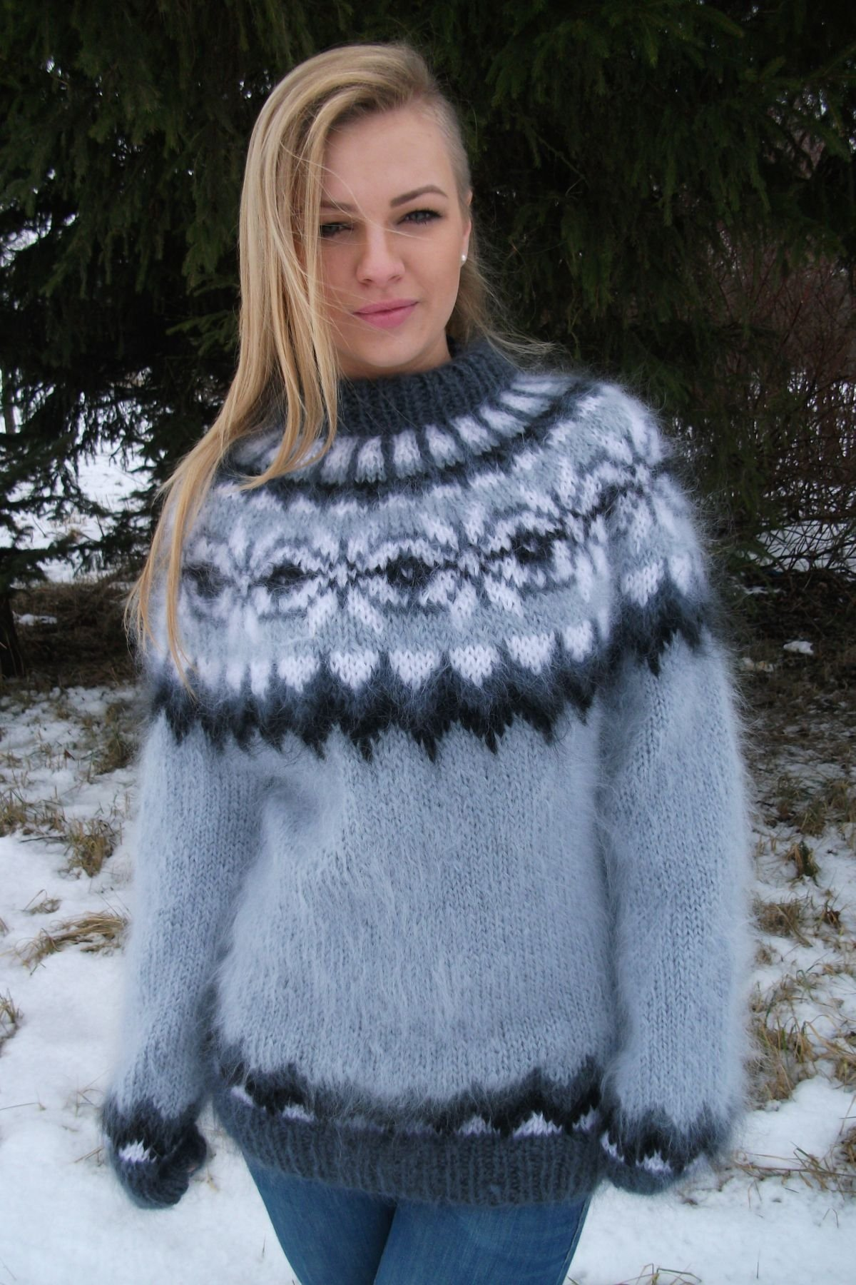 Stardust reccomend Mohair wool sweater bondage pics