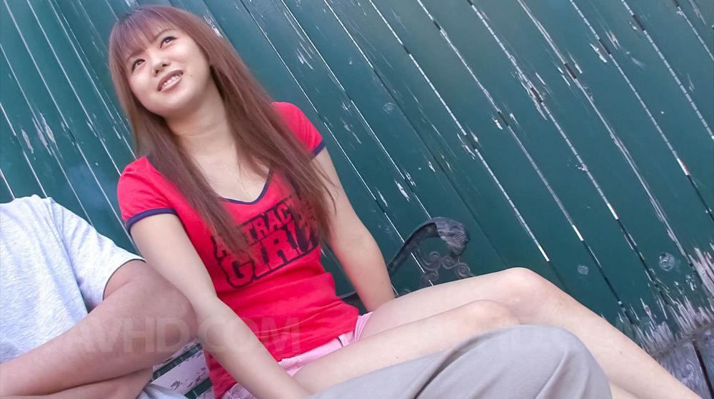 Female asian lick cock outdoor