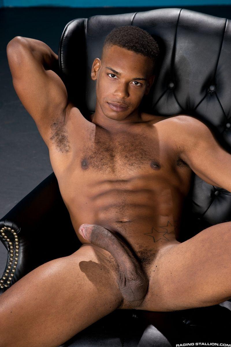 Hot ebony male naked