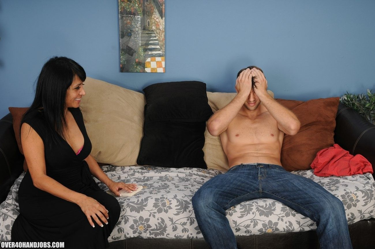 Latina mom handjob