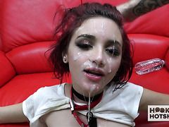 Sloppy deepthroat teen